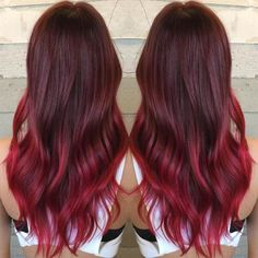 Looking for a unique ombre hair color ideas? We've got you covered. Head over our site to see 15 awesome hairstyles. } Burgundy Red Ombre | 15 Ombre Hair Color Ideas