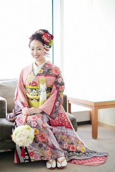 オフィシャル・ブライズ NO.6 たぬさん | ウエディング | 25ans(ヴァンサンカン)オンライン Wedding Kimono, Geisha, Traditional Outfits, Sari, Style, Fashion, Valentines Day Weddings, Traditional Clothes, Kimonos