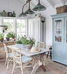 Rustic Home Decor .Rustic Home Decor Shabby Chic Kitchen, Shabby Chic Homes, Shabby Chic Decor, Chabby Chic, Shabby Chic Dining Room, Vintage Kitchen, Rustic Wood Floors, Weathered Wood, Wood Planks