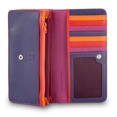 Multi-Colour Woman's Soft Leather Bag Purse By Dudu Fuchsia