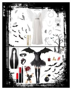 """""""Happy Halloween !!"""" by belynlove1d ❤ liked on Polyvore featuring Crate and Barrel, Pretty Polly, Effy Jewelry, Marchesa, MAC Cosmetics, Givenchy, A Weathered Penny, Kasun, Bling Jewelry and Victoria's Secret"""