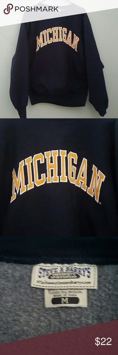 Michigan Heavyweight Sweatshirt University of Michigan heavy weight. Long sleeve. Chest 46 inches. Length 26 inches.  Sleeve 27 inches. Steve & Barry's Tops Sweatshirts & Hoodies
