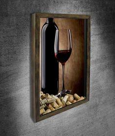 Wine Cork Art, Wine Cork Crafts, Wood Wall Art, Framed Wall Art, Diy Mirror, Modern Art Prints, Creative Crafts, Wine Tasting, Decoration