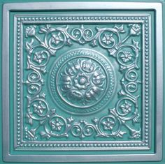 """Majesty Antique Silver Patina (24x24"""" Pvc) Ceiling Tile by Antique Ceilings. $7.98. Tin like look from a modern material. Can be painted with most any water or latex based paints. High quality PVC matterial. Easy to cut. Universal Installation - Drop in Grid system, Glue-on, Nail-on. PVC ceiling tiles come in 24""""x24"""" size. Feather-light, easy to install, easy to clean, stain resistant, water resistant, dust free, and easy to cut. They can be cut with any house hold sc..."""