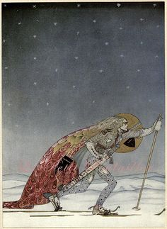 This is my all time favorite Kay Nielsen Image: 2 thoughts: the skies! and that uber aggressive /focused face. Kay Nielsen's Stunning 1914 Scandinavian Fairy Tale Illustrations – Brain Pickings Art And Illustration, Old Illustrations, Botanical Illustration, Fairy Tale Illustrations, Kay Nielsen, Harry Clarke, Illustrator, East Of The Sun, Edmund Dulac