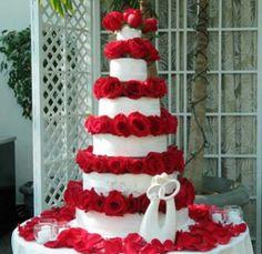 Rose wedding cake!