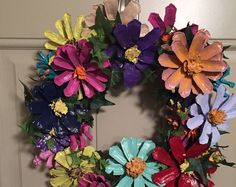 Floral Pine Cone Wreath Multi-Color