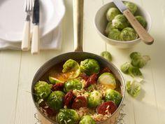 Rosenkohl-Reis-Topf mit Chorizo - smarter - Kalorien: 380 Kcal - Zeit: 30 Min. | eatsmarter.de