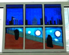Collaborative Fused glass project done by 5-6 students in Grades 7 & 8.