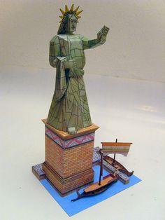 Colossus of Rhodes paper model by Richard Vyskovsky Marvel Comics, Comics Anime, Paper Toys, Paper Crafts, Seven Wonders, Paper Models, Rhodes, Origami, Printables