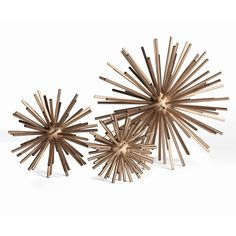 Chic, glamour meets fierce and edgy in these classic sputnik sculptures. Available in small, medium, or large.