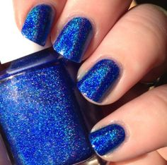 Life's A Beach is a neon blue holographic polish.