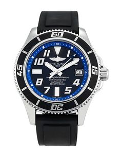 Pre-owned Breitling SuperOcean II Gents Automatic watch. In stock now, on your wrist tomorrow! Timer Watch, Watch 2, Breitling Watches, Men's Watches, Breitling Bentley, Breitling Superocean, Luxury Watches For Men, Automatic Watch, Casio Watch
