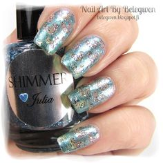 Nail Art by Belegwen: Shimmer Polish: Julia