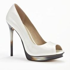 Kenneth Cole Not A Test Heel Off White Design works No.1844 |White Heels|