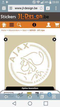 Muursticker Ajax