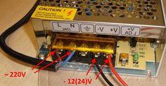 Пример подключения ленты к БП