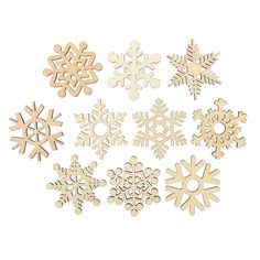 Assorted Wooden Snowflake Cutouts Craft Embellishment Gift Tag Wood Ornament for Weding Christmas DIY Diy Christmas Tags, Christmas Placemats, Wooden Christmas Ornaments, Wood Ornaments, Hanging Ornaments, Christmas Tree Decorations, Christmas Crafts, Merry Christmas, Christmas Ideas