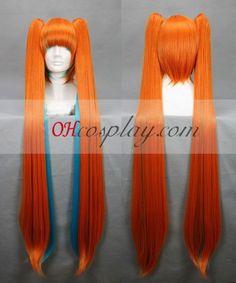 Vocaloid Miku Halloween Orange Cosplay Wig