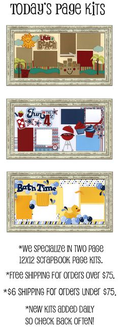 Super Cute Scrapbook Page Kits (page layout ideas!)