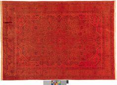 Oranger Teppich by KISKAN PROCESS HAMBURG, Orientteppich, gefärbter Teppich, Wohnzimmer, vintage, orient, muster, Wohneinrichtung, Vintage Teppich, rug, carpet, orange