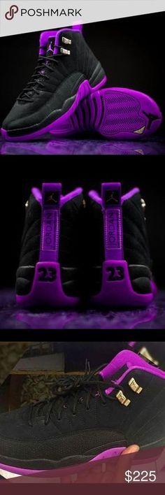 sale retailer f2170 3dbc6 AIR JORDAN RETRO 12sVARSITY PURPLE BLACK AIR JORDAN RETRO 12sVARSITY  PURPLE BLACKGIRL SIZES Thru️️ORDERS