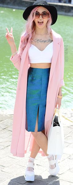 Light Pink Long Trench #Fashionistas