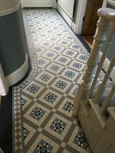 Victorian tiles are an elegant and original feature that will add value to your property. Victorian mosaic tiles supplay and installation Hall Tiles, Tiled Hallway, Front Hallway, Victorian Hallway, Victorian Bathroom, Hall Flooring, Best Flooring, Floor Ceiling, Tile Floor