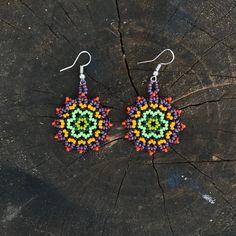 Seed Bead Jewelry, Seed Bead Earrings, Circle Earrings, Beaded Jewelry, Seed Beads, Beaded Earrings Patterns, Crochet Earrings, Earrings Handmade, Handmade Jewelry