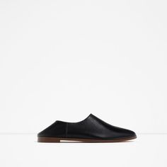 Image 2 of FLAT LEATHER SHOES from Zara