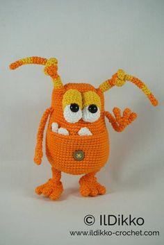 Amigurumi Crochet Pattern Webster the Monster English