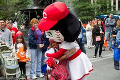 Join Rosie Red and other local mascots at this year's Conga Parade! 3pm on Saturday, May 4!