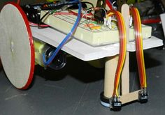 """In the """"Line Follower: A Zippy Robot That Senses Where to Go"""" #science project, students build a #robot that uses optical sensors to follow differently shaped lines. [Source: Science Buddies, http://www.sciencebuddies.org/science-fair-projects/project_ideas/Robotics_p021.shtml?from=Pinterest] #STEM #robotics #engineering"""