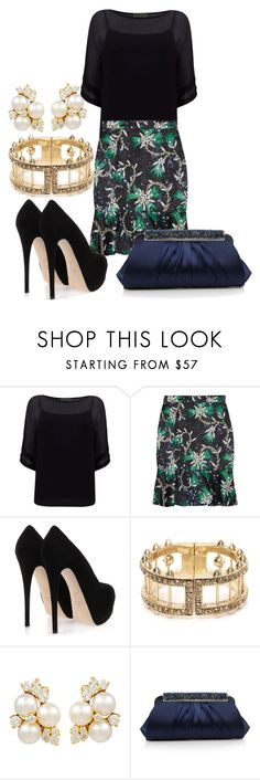 """Mix them up"" by carmelmccarthy ❤ liked on Polyvore featuring Mint Velvet, Mary Katrantzou, Giuseppe Zanotti, Alexander McQueen and J by Jasper Conran"