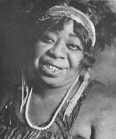 Ma Rainey in 1917, sporting one of her trademark beaded gowns.
