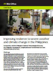 Improving resilience to severe weather and climate change in the Philippines