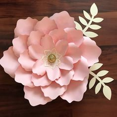 SVG Petal #21 Paper Flower Template with Base, DIGITAL file for Cutting Machines Such as Cricut and Silhouette Cameo by TheCraftySagAnnie on Etsy