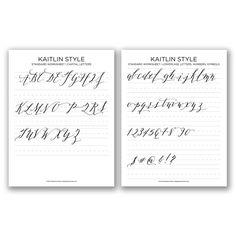 Kaitlin Style Standard Worksheet