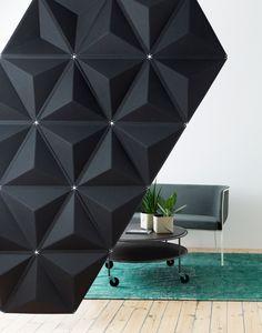 Sound absorbing modular desk #partition AIRCONE by Abstracta   #design Stefan Borselius