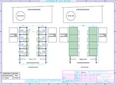 Top & Section View of Toilet Blocks