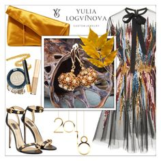 """Yulia Logvinova 14"" by mujkic-merima ❤ liked on Polyvore featuring Elie Saab, Diane Von Furstenberg, jewelry and yulialogvinova"