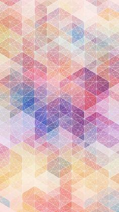 Pastel Geometric Shapes iPhone 6 Wallpaper