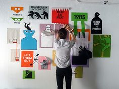 Fantastic illustrations and paperwork by Jean Jullien.