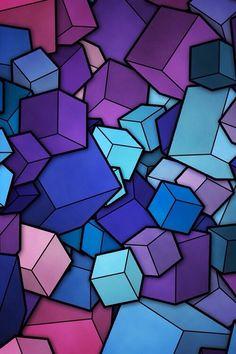 Cubes  #purple #Blue