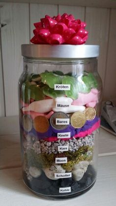 geldgeschenk im glas money gift in a jar upcycling diy gifts pinterest geschenke. Black Bedroom Furniture Sets. Home Design Ideas