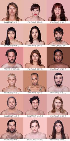 :: Angelica Dass, Humanae ::pantone photobooth The pics are creepy but I like the colors