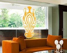 Window Sticker Mask of Zebra window film window tattoo glass sticker window art window décor window decoration window picture Color: rose; Dimensions: x 13 inches -- You can get additional details at the image link. (This is an affiliate link) Window Art, Window Film, Window Picture, Decorating With Pictures, Window Stickers, Kids Furniture, Accent Chairs, Windows, Rose