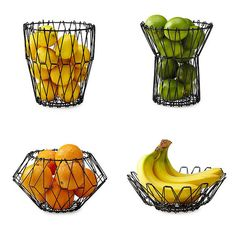 A fruit basket that adjusts to hold whatever fruit you're currently stocked up on. | 23 Things That Will Make Your Kitchen So Much More Organized