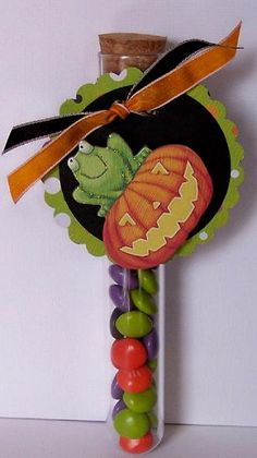 Great Halloween Candy Idea for a class or Girl Scouts!  Change up the tag!