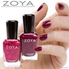 Zoya Nail Polish in Blaze layered over one coat of Astra. Zoya Nail Polish, Nail Polish Colors, Hair And Nails, My Nails, Dark Red Lips, Glamour Nails, Nail Envy, Wow Products, Manicure And Pedicure